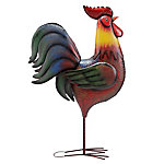 Red Shed Giant Metal Rooster Colorful