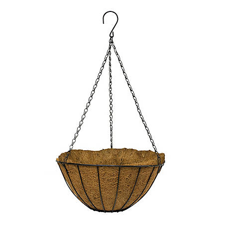 Gardener's Blue Ribbon 14 in. Hanging Growers Basket Black, HGB14-B8