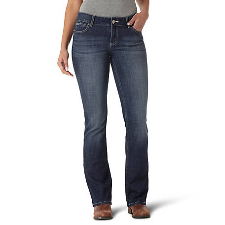 Wrangler Women's Premium Patch Bootcut Denim Jean