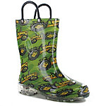 Western Chief Boy's Tractor Light Up Rain Boots