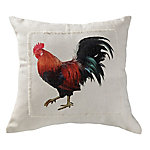 Red Shed Rooster Pillow Red