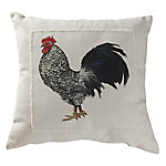 Red Shed Rooster Pillow White