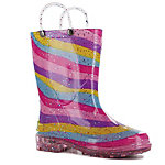 Western Chief Girl's Rainbow Light Up Rain Boot