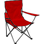 Quik Chair Quad Folding Chair with Red Fabric