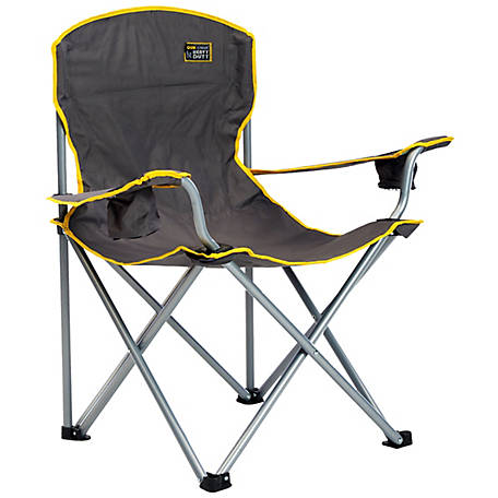 Quik Chair Heavy Duty Folding Chair with Gray Fabric