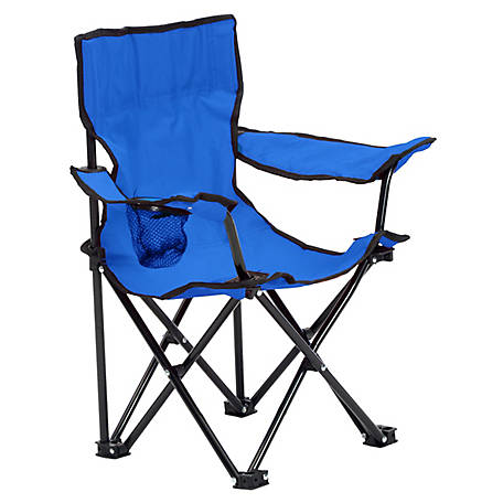 Quik Chair Kid's Folding Chair with Blue Fabric