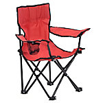 Quik Chair Kid's Folding Chair with Red Fabric