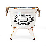 Trisha Yearwood Home Collection Jasper Farms Market Tin On Stand