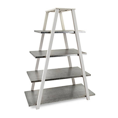 Trisha Yearwood Home Collection Galvanized Ladder Shelf