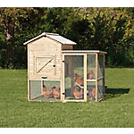 Precision Unstained Natural Wood Rustic Barn Chicken Coop, 40122D