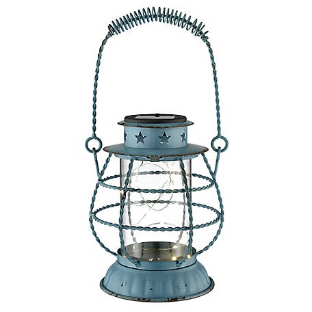 Red Shed Twisted Wire Lantern, Blue
