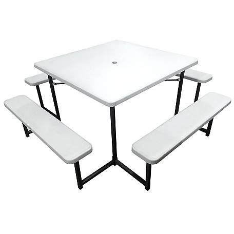 Plastic Development Group Square Picnic Table with 4 Benches, 784