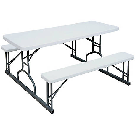Plastic Development Group 6 ft. Picnic Table with Benches, 345