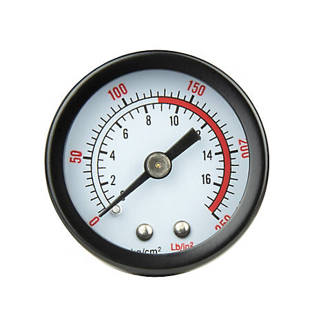 PORTER-CABLE 1.5 in. Pressure Gauge 250 PSI, PXCM032-0120