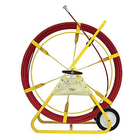 Jameson Duct Hunter Traceable Rodder with 1000 Feet of 7/16-inch Rod Marked Every 5 Feet