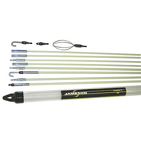 Jameson Installer's Glow Rod Kit with 35 Feet of Fiberglass Fish Rod