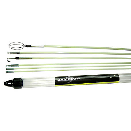 Jameson Versa Glow Rod Kit with 34 Feet of Fiberglass Fish Rod