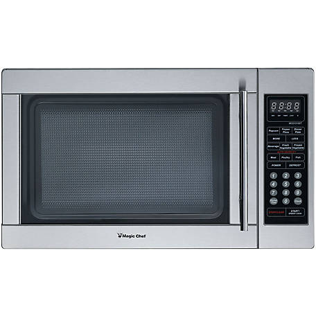 Magic Chef 1.3 CF 1000W Countertop Microwave, Stainless Steel, MCD1310ST
