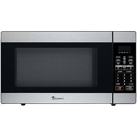 Magic Chef 1.8 CF 1100W Countertop Microwave Oven, Stainless Steel, MCD1811ST