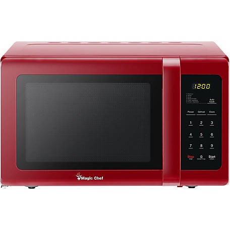 Magic Chef 0.9 CF 900W Countertop Microwave Oven In Red, MCD993R