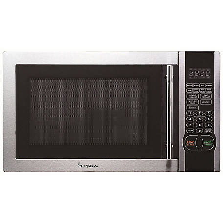 Magic Chef 1.1 CF 1000W Countertop Microwave, Stainless Steel, MCM1110ST