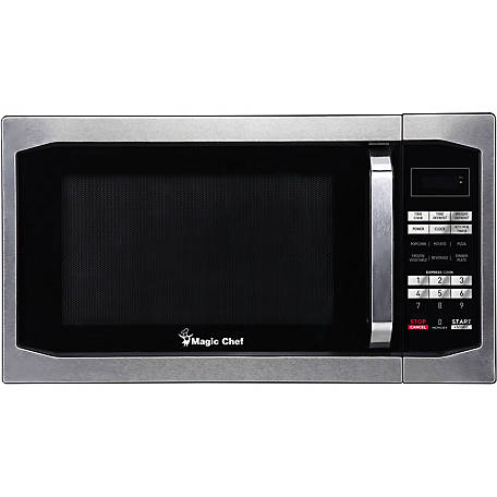 Magic Chef 1.6 cu. ft. 1,100W Countertop Microwave Oven, Stainless Steel, MCM1611ST