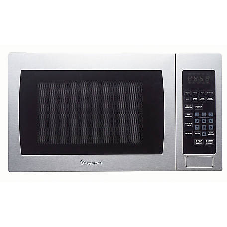 Magic Chef 0.9 CF 900W Countertop Microwave, Stainless Steel, MCM990ST
