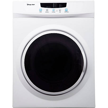 Magic Chef Compact Electric Dryer, White, 3.5 cu. ft., MCSDRY35W