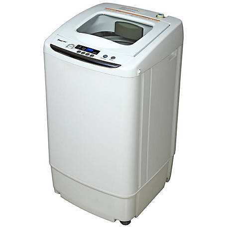 Magic Chef Compact Washer, White, 0.9 cu. ft., MCSTCW09W1