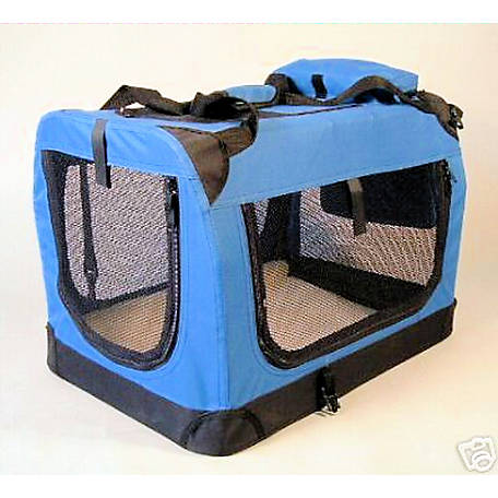 Go Pet Club 28' Blue Soft Portable Pet Carrier