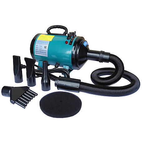 Go Pet Club Step-Less Adjustable Speed Pet Dryer, Turquoise