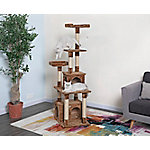 Go Pet Club 67' Brown Cat Tree Furniture Condo House
