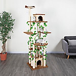 Go Pet Club 85' Beige and Brown Cat Tree Furniture