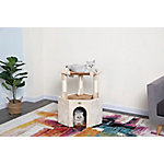 Go Pet Club Tall Beige & Brown Cat House, 32'