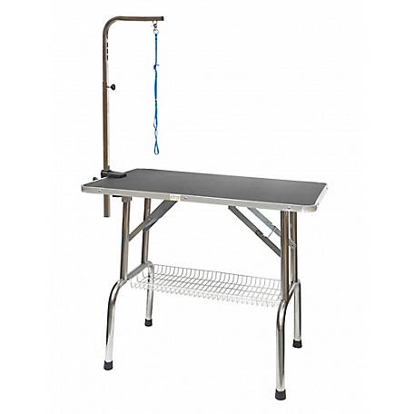Go Pet Club 48' Heavy Duty Stainless steel Pet Dog Grooming Table with Arm