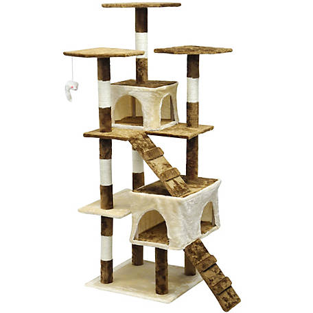Go Pet Club Homessity Cat Tree House Condo Bed Scratching Post Furniture