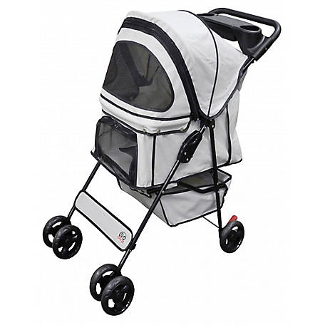 Go Pet Club Pet Dog Cat Stroller Beige