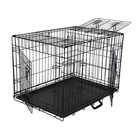 Go Pet Club 42' Three-Door Metal Dog Crate with Divider
