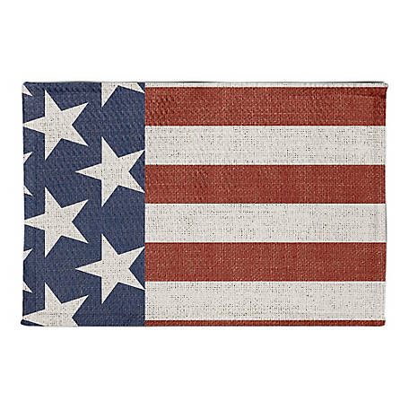 Designs Direct Vintage American Flag 2X3 Area Rug