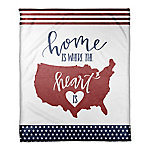 Designs Direct Home Where Heart Is 50 x 60 Coral Flannel Blanket