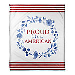 Designs Direct Proud To Be An American 50 x 60 in. Coral Flannel Blanket