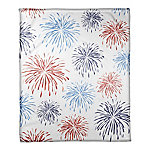 Designs Direct Fireworks Pattern 50 x 60 in. Coral Flannel Blanket