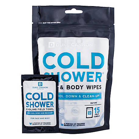 Duke Cannon Cold Shower Cooling Field Towels 15 ct. Pouch