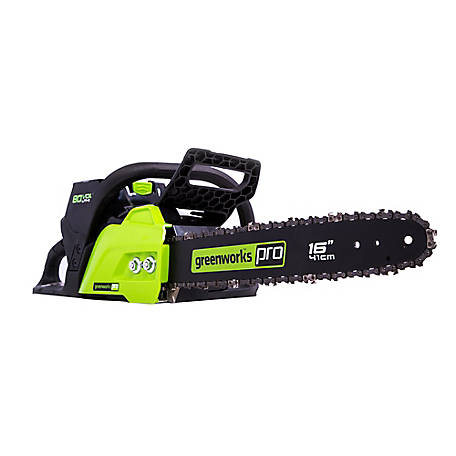 Greenworks Pro 80V 16 in. Chainsaw, Battery and Charger Not Included, 2004202