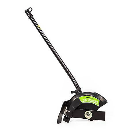 Greenworks EDA75 7.5 in. Edger Attachment, Black and Green, 2927802