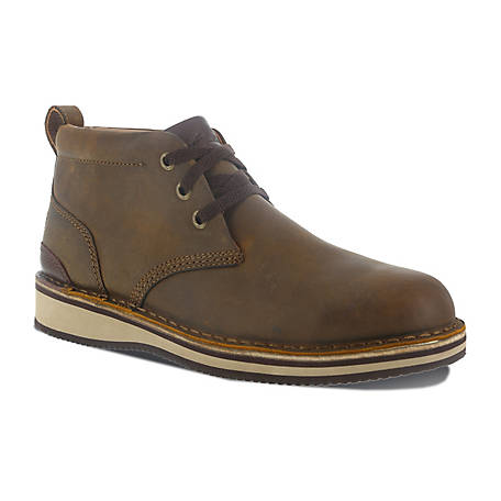 Rockport Works Rockport Works RK2801 Prestige Point Work EH SR Steel Toe Brown Lace Up Chukka