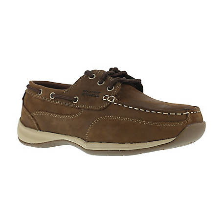 Rockport Works Rockport Works RK6736 Sailing Club EH SR Steel Toe 3 Eye Tie Boat Shoe ASTM - CSA Approved