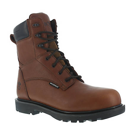 Iron Age IA0180 Hauler Brown 8 in. EH Composite Toe Waterproof Work Boot