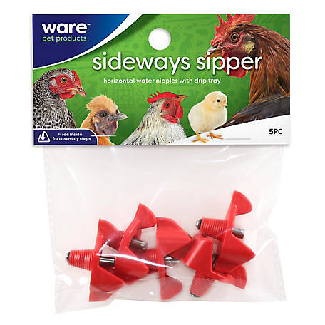 Ware Manufacturing Sideways Sipper Nipples 5-Pack, 15022