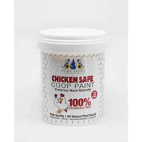 Pure Paint Laboratories Bright White Chicken Coop Paint, PP210